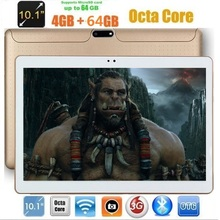 10 inch Android 7.0 Tablet Octa Core 4GB RAM 64GB ROM IPS 1280*800 Dual Cameras 10.1 3G Tablet+Gifts