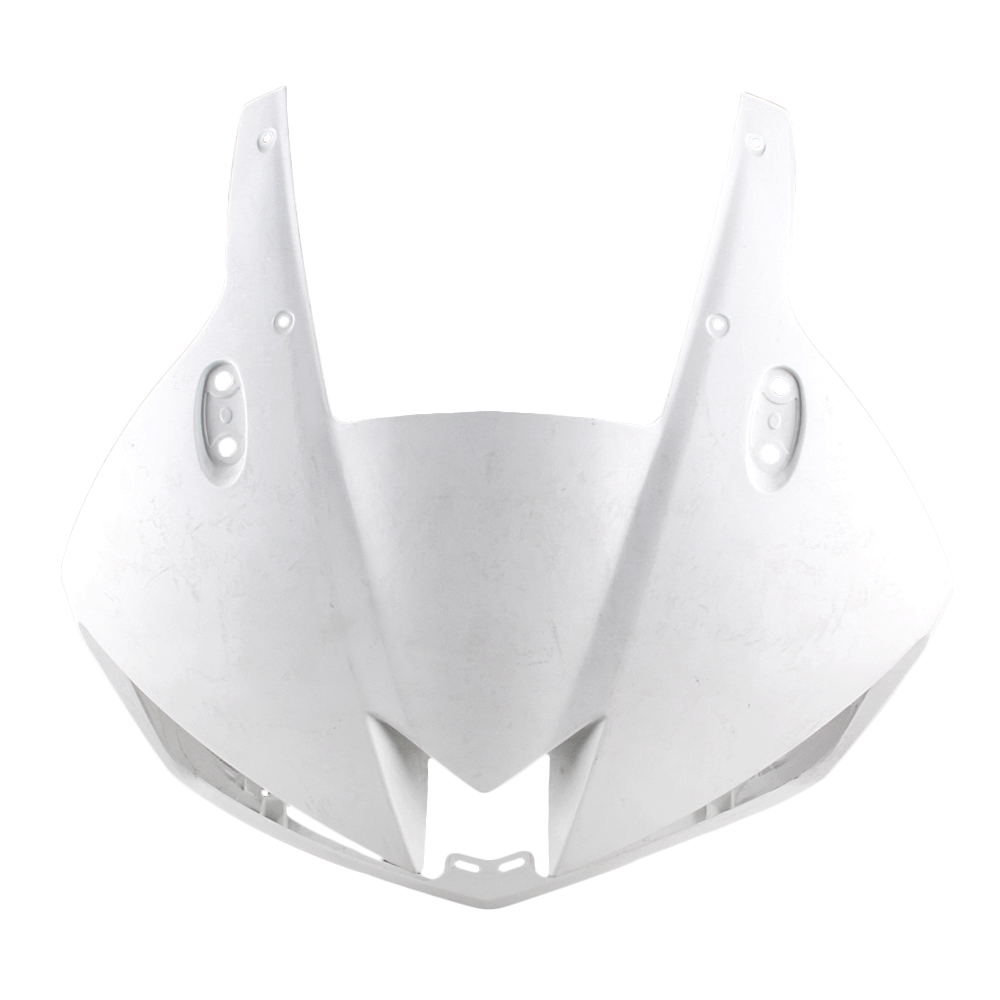 For HONDA CBR500R Upper Front Nose Cowl Fairing 2013 2014 2015 Motorbike Part Accessories Injection Mold Unpainted White upper front cover cowl nose fairing for kawasaki ninja zx6r 2012 2013 injection mold abs plastic unpainted