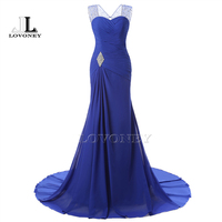 Ann Deer Real Photos Sexy Mermaid Chiffon Beading Evening Dress Long Formal Dresses Gown Vestido De