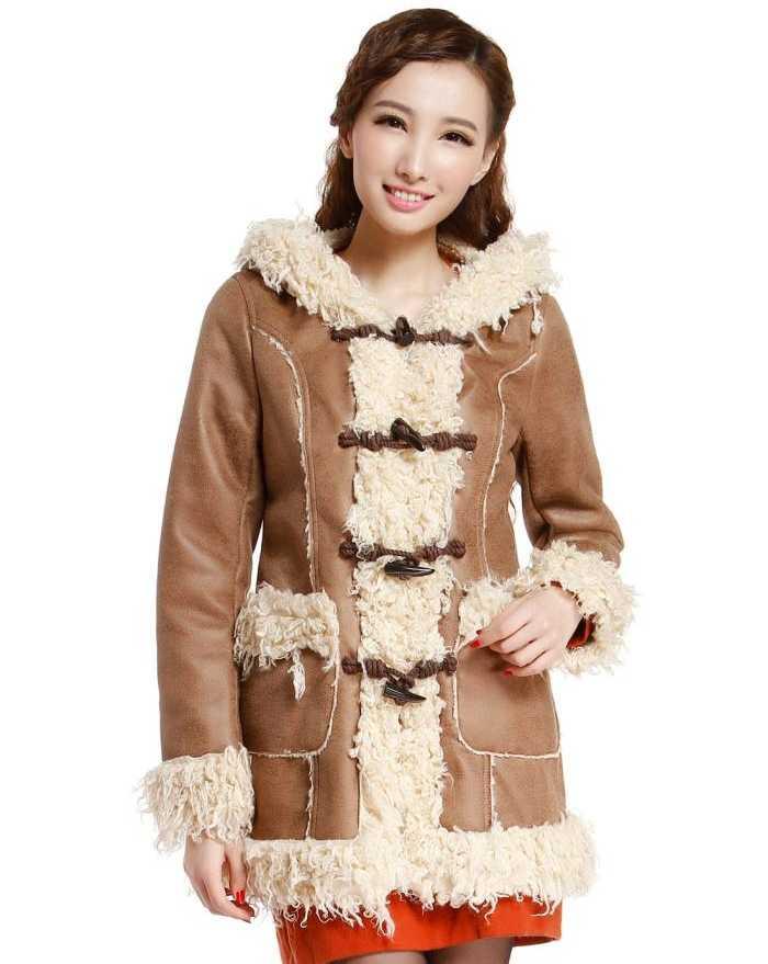 2016 new design winter Winter Coat Women 2016 New Design Faxu Fur Patchwork PU Thicken Warm Overcoat Fashion Ladies Medium-Long Parkas Plus Size A4368