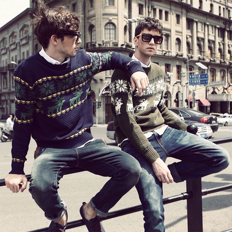 Sweaters Pullover O-Neck Knitted Long-Sleeve Warm Male Men Casual Fashion Autumn/winter