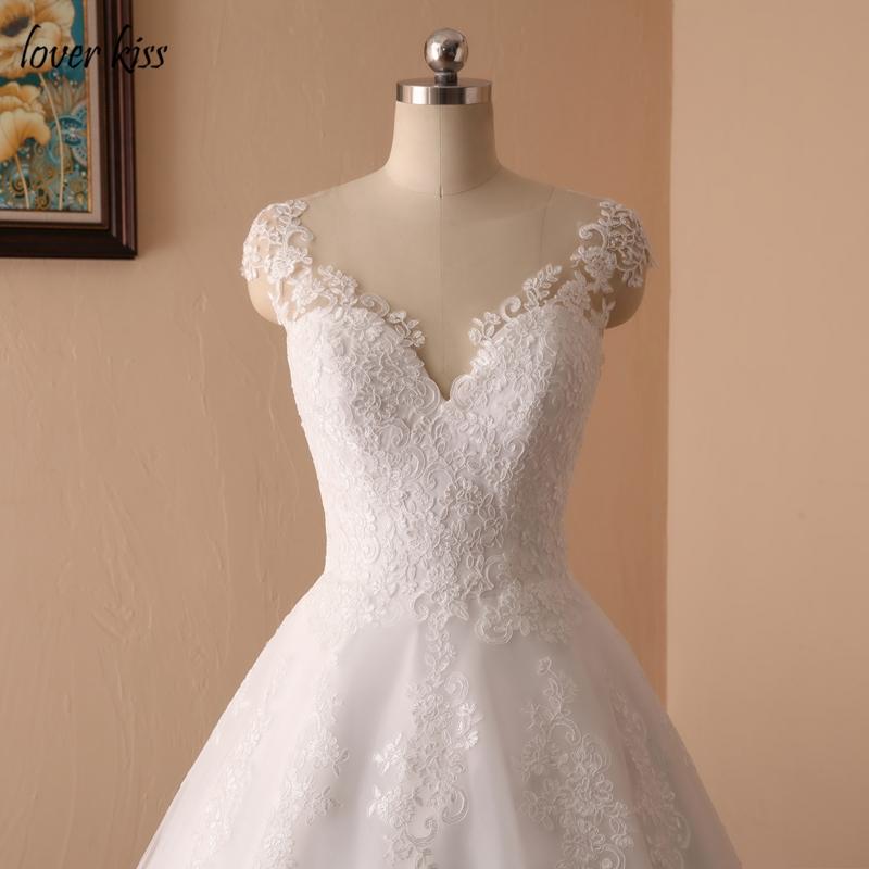 421a3f29c5 Lover Kiss Vestido De Noiva New Design A Line Lace Wedding Dress V Neck  Beaded Sash Backless Sexy Vintage Gowns Wedding DressUSD 101.75/piece