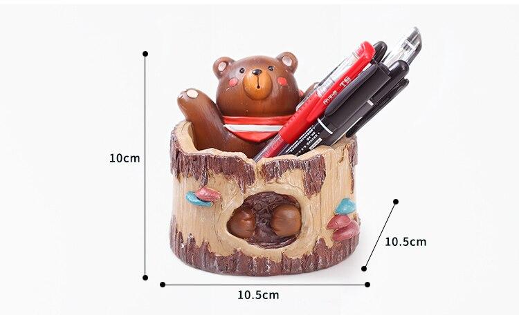 Roogo горшочки с животным для цветов Медведь Дерево форма украшения