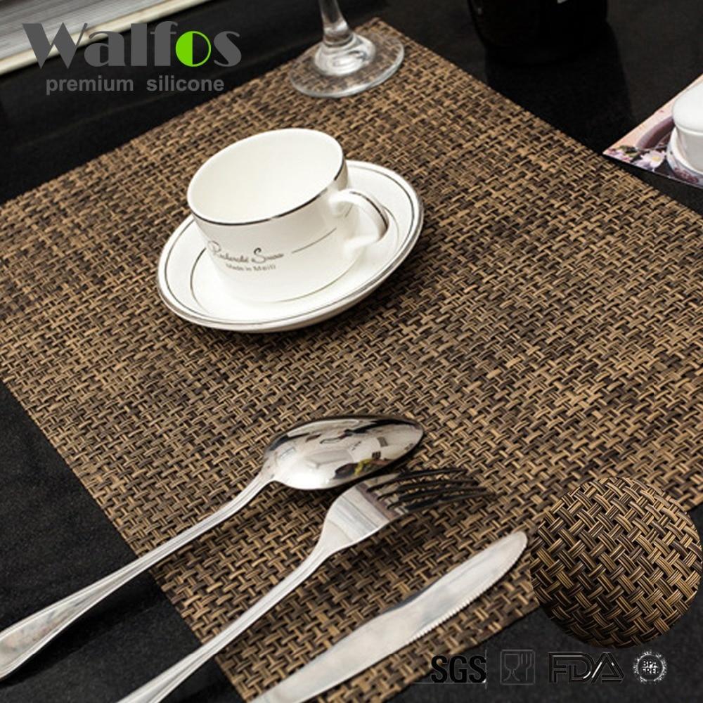 modern restaurant placemats reviews  online shopping modern  - walfos  pieceslot xcm high quality pvc insulation placemats barrestaurant grid modern europe table mat