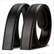 2017 fashion leather Automatic business belt buckle men 3.5cm black brown body length of 130 cm wide man belt accessories 140