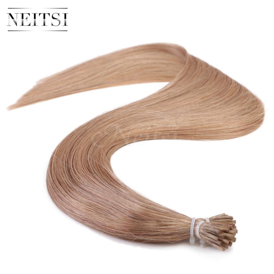 Neitsi I Tip Stick Tip Keratin Human Hair Extensions 100 Indian