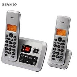 Chamada colorida id sistema de resposta telefone digital sem fio telefone para escritório em casa negócio sem fio telefone