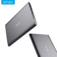 Vinsic 20000mAh 3A Type C Power Bank Dual Port USB Smart Charging External Battery Pack Portable