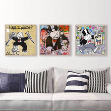 Alec Monopolyingly Street Art DJ Healthcare Canvas Posters Print Wall Oil Painting Decorative Picture for Living Room Home Decor