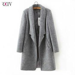 к 2015 году зимнее пальто женщин слим костюм ошейник давно стиль soild шерсти пальто -