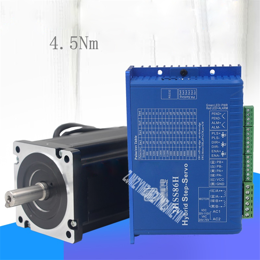2HSS86H+86J1880EC-1000 Two-phase Stepper Servo Motor Driver 86/4.5N.m Closed-loop Stepping Set + Encoder Line Set 600-800r/min рубашка selected цвет белый