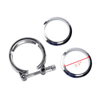 63mm 2 5inch Universal Band Clamp Flange Kit Auto Parts Turbo Exhaust Pipes Turbo Downpipe Wastegate