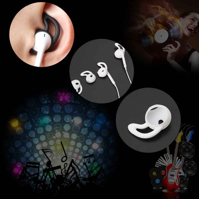 4pcs/2pair Silicone Earbuds Cover Anti-Lost Ear Cap for Apple Airpods Wireless Bluetooth earphone for iphone 7 8 X in-ear Heads