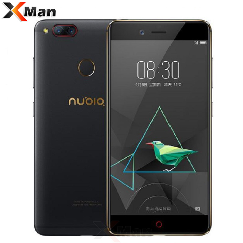 Original Nubia Z17 Mini 4GB RAM 64GB ROM Dual Back Camera Mobile Phone Snapdragon 652 Octa Core 5.2Inch Fingerprint 1080P FHD