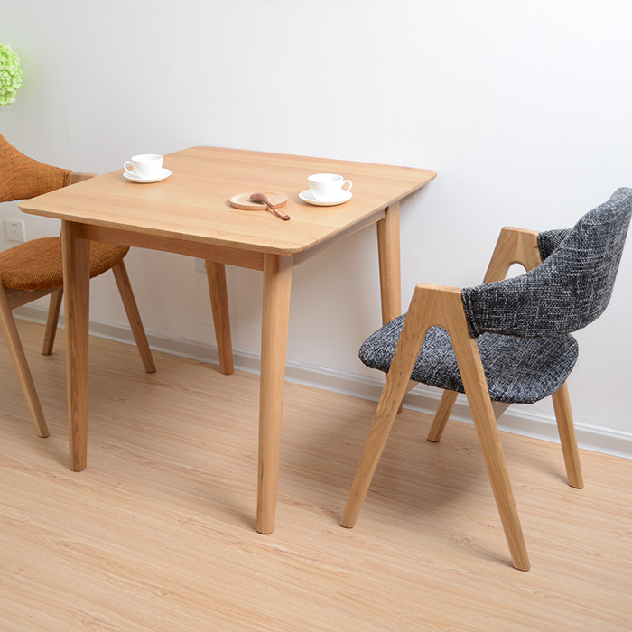 aa3903ff34d Wooden dining table small apartment adjacent square dining table modern  minimalist Japanese style solid wood Nordic oak dining t-in Dining Tables  from ...