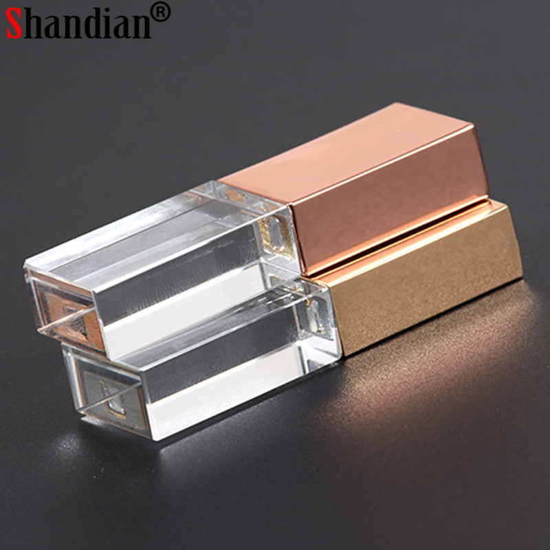 "Shandian ""crystal Usb Sticks 3d Print Custom Logo 10pcs/lot 4gb 8gb 16ggb 32gb 64gb Usb Flash Pendrive Transparent Glass"" A Wide Selection Of Colours And Designs"