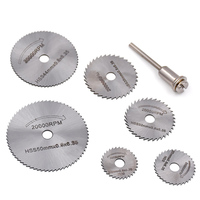 6pc HSS Circular Saw Blades Metal Wood Cutting Blades Disc Woodworking Grinding Sets For Dremel Rotary Tool Cutter Accessories