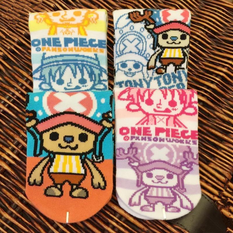 One Piece Straw Hat Pirates Luffy Socks Adventure Anime Comics Sock Spring Summer Mens Unisex Comfortable Breathable Socks 2018