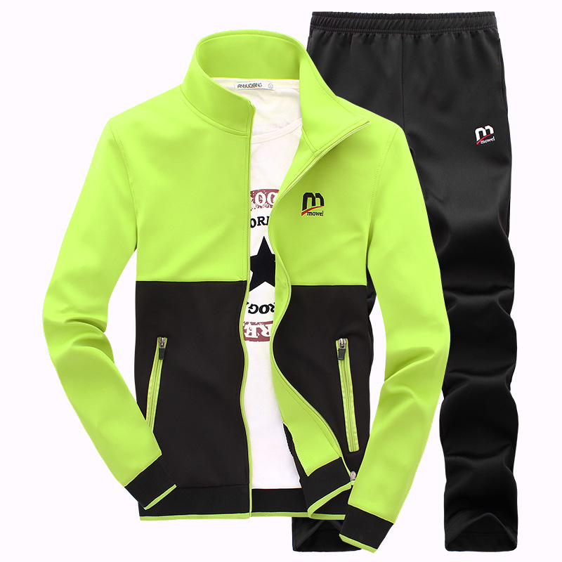 AmberHeard 2019 New Fashion Spring Autumn Men Sporting Suit Hoodies+Pant Sweatsuit Two Piece Set Tracksuit Set For Men Clothing