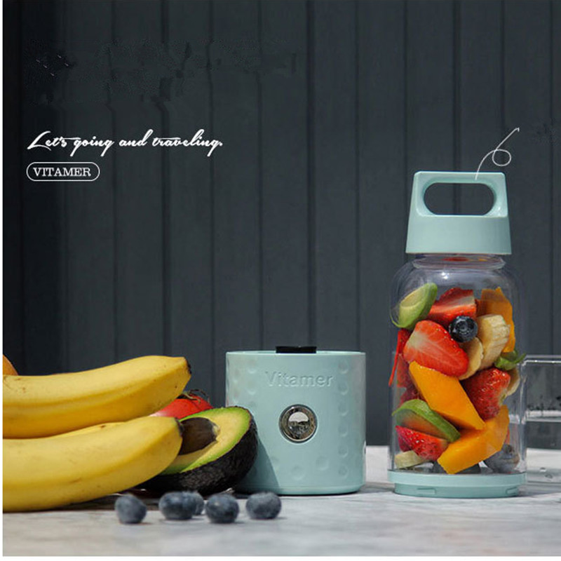 USB Mini Portable 1 minute Juicer Bottle Juice Blender Lemon vegetables fruit Squeezers Reamers Bottle 1000ml fashion scented large water bottle with bag water bottle capacity portable bpa free fruit lemon juice drinking bottle