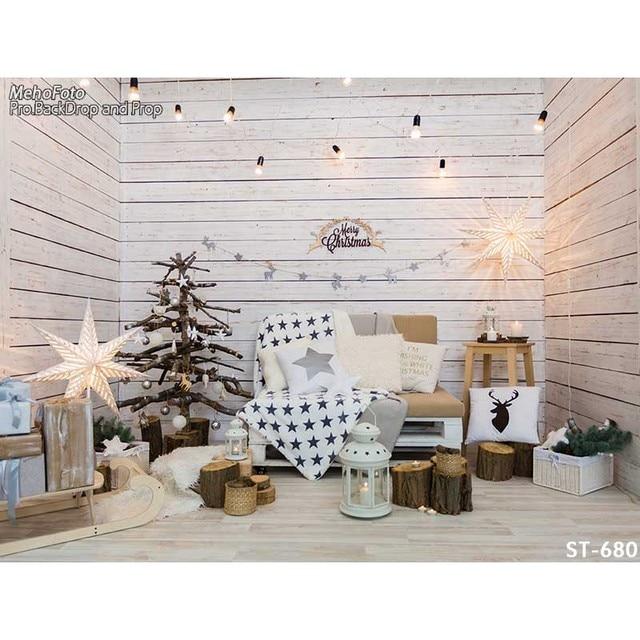 Fotografia horizontal Vinyl stunning decoration white Xmas room ...