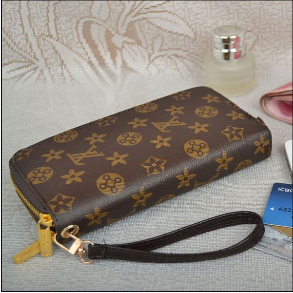 Free shipping  New Design Famous Brand Women faxu Leather Wallet Ladies' Purse for Promotion women's zipper wallet