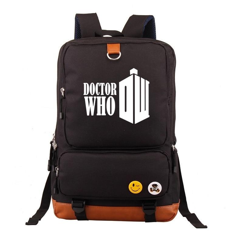 Letter Doctor Who Game of Thrones Boy Girl Children School bag Women Bagpack Teenagers Schoolbags Canvas Men Student Backpack
