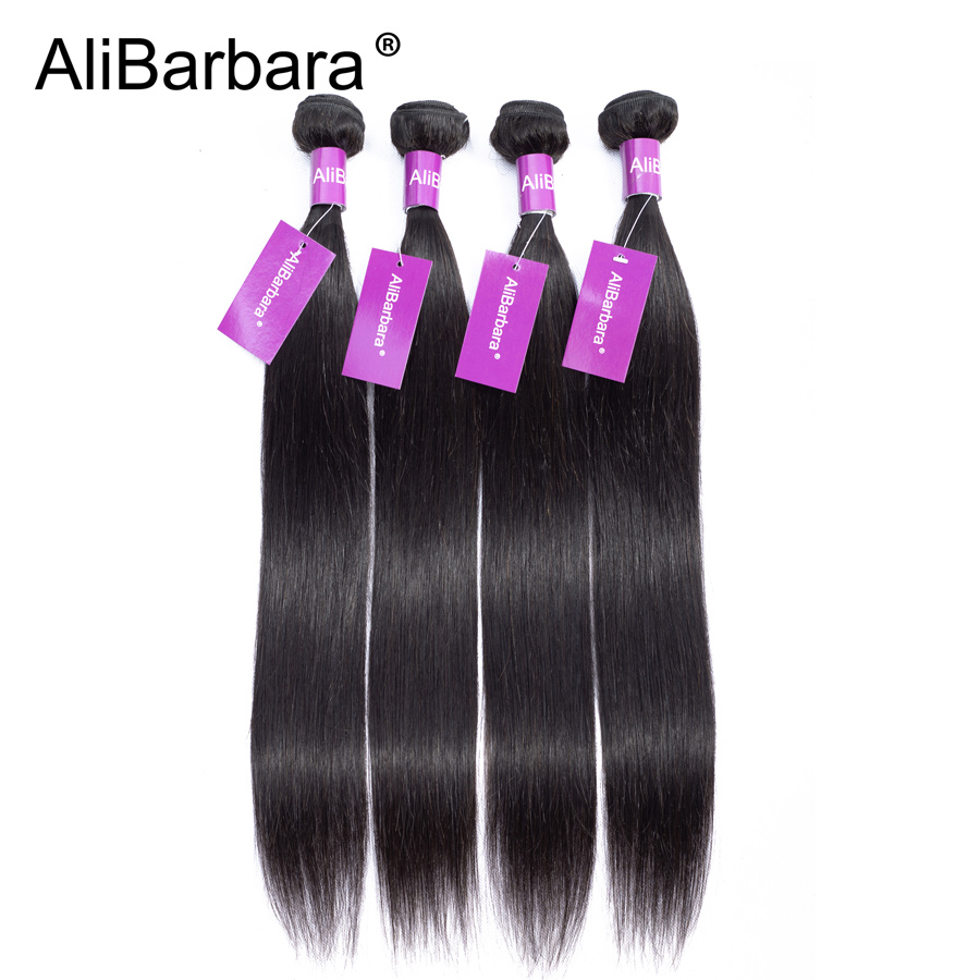 AliBarbara Hair Malaysian Straight Hair Weave 50grams per bundle Remy Human hair extension 4bundles a lot 2lots for a full head