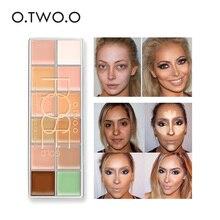 O.TWO.O Brand 12 Colors Face Makeup Concealer Cream Palette Contour kit Concealer Cream Long Lasting Waterproof Natural