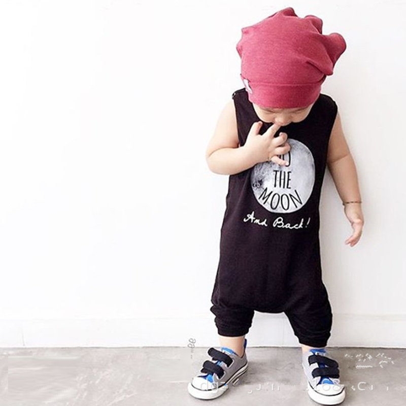 2017 Nununu Baby Boys Girls Rompers NO SLEEP Infant Clothes Newborn To The MOON Jumpsuit Sleeveless Onesie Summer Toddler Outfit