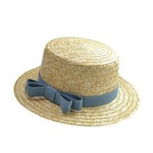 Woman Athlete Sun Hat 2017 Summer New Fashion Wheat Panama Sun Hat Beach Hat Ribbon Bow Knot Naval Style Straw Hat Woman Cap цены