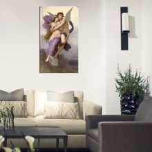 Famous Portrait Canvas Painting Repro The Abduction of Psyche by William Adolphe Bouguereau For Living Room Paintings Customized