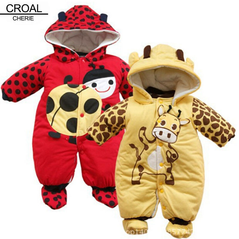 Russian Thickened Baby Clothing Set Newborn Baby Girl Boy Romper Cotton Winter Clothes Warm Infant Clothing Winter Jumpsuit cotton newborn infant baby boy girl clothing romper sleeveless cotton jumpsuit cute animals clothes outfits