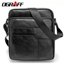 OGRAFF Männer messenger bags echtledertasche casual kleine geschäfts vintage luxus handtasche designer schulter crossbody männer tasche