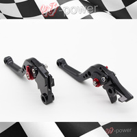 For HONDA CBR 600 F HORNET Motorcycle Accessories CNC Billet Aluminum Short Brake Clutch Lever Black