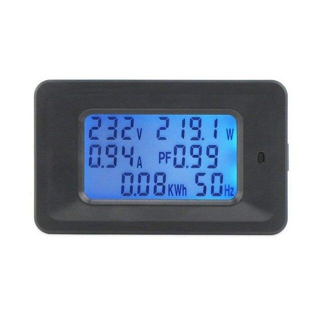 Multimètre numérique fréquence puissance énergie tension courant mesure puissance alarme seuil préréglé voltmètre ampèremètre multimètre