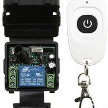 12В 24 В 1CH мини Беспроводной RF пульт дистанционного управления светильник 433 МГц 10А релейный выход Радио 1* Модуль приемника+ 100* передатчик