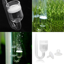 Aquarium CO2 Diffuser Glass Tank Regulator Atomizer with Ceramic Disc Suction Cups for Fish