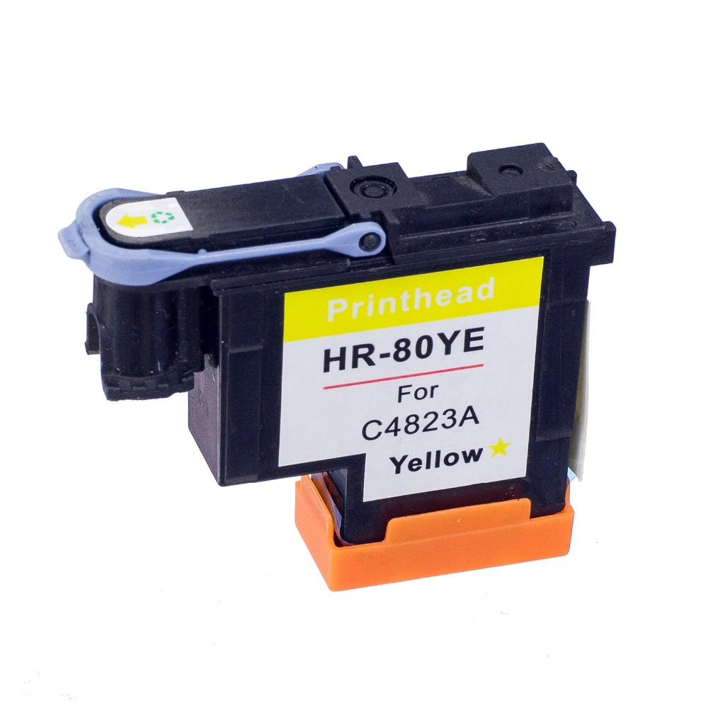 80 Yellow Compitable Printhead C4823A for HP80 Print Head for hp 80 Ink Cartridge Head for HP Designjet 1050 1055 Printer 1 set printhead cleaning kit for hp designjet 5000 5500 5100 1050 1055