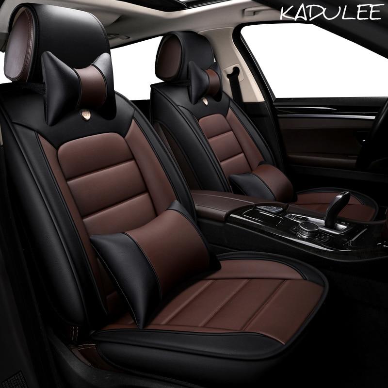 KADULEE housse de siège auto en cuir synthétique polyuréthane pour Skoda Octavia 2 a7 a5 a3 Fabia superbe 2 3 Rapid Yeti super auto accessoires de voiture