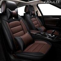 KADULEE pu leather Car Seat Cover For Skoda Octavia 2 a7 a5 a3 Fabia Superb 2 3 Rapid Yeti super auto accessories car styling