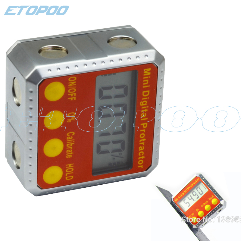 NEW 2 Sides Mini Magnets Digital Protractor Electronic Inclinometer Digital Bevel Box Level Tool Electronic Angle Gauge