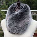 New short faux fox fur muffler winter warm multicolors super soft blue pink  black short faux fur collar rabbit fur scarf