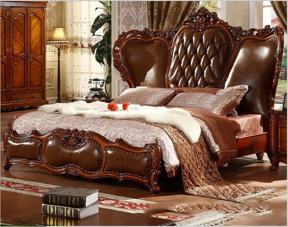 modern American solid wood country style Fashion bedroom set ...