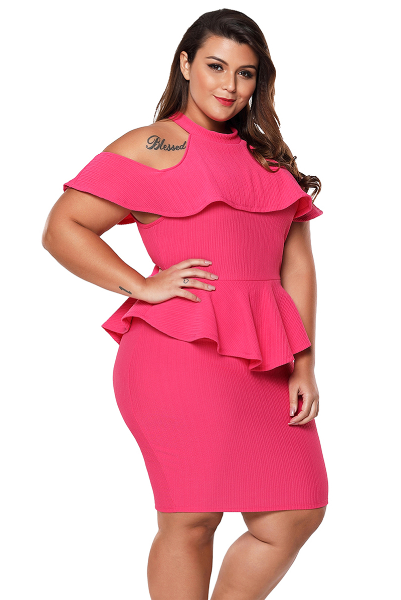 Rosy-Plus-Size-Cold-Shoulder-Peplum-Bodycon-Dress-LC220308-6-4