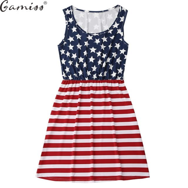 0c36a66b05ed Gamiss New American National Flag Dress Fourth of July the 4th Mura Maui  Pink Lily Boutique For Women USA Girl Lady Dress
