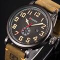 Часы CURREN Мужские  спортивные  кварцевые  с кожаным ремешком