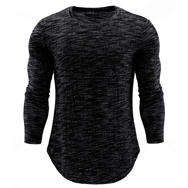 2018 New Black Men Running T Shirt Black Long Sleeve Slim Fitness Tops Stretch T-shirt Mens Gym Clothing Chemise Homme Outdoor sexy off the shoulder long sleeve black flounced t shirt for women