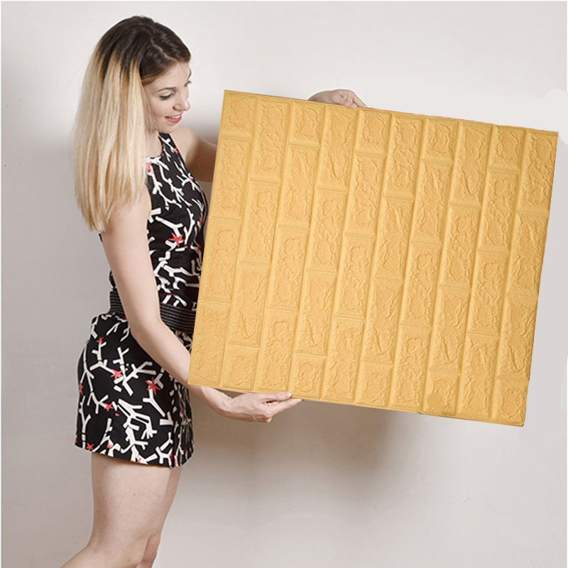 Self-adhesive European 3d wall stickers living room bedroom brick pattern TV background wall waterproof wallpaper tile stickers