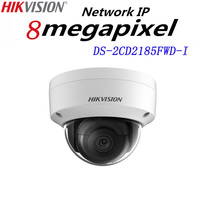 Free Shipping English Version DS 2CD2185FWD I 8MP Network Mini Dome Security CCTV Camera POE SD
